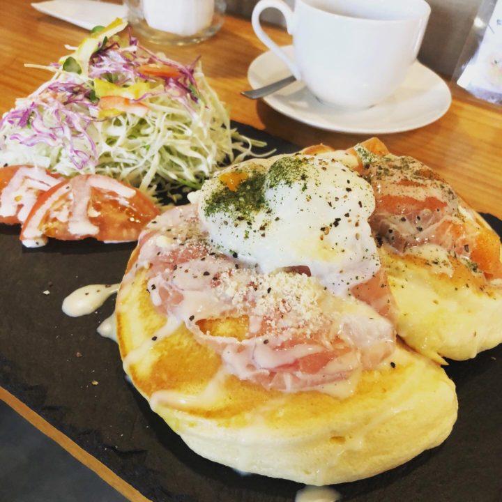 生ハム&クリームチーズとサーモンのパンケーキセット