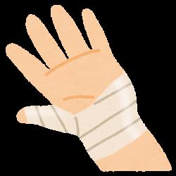 手首や親指のテーピング