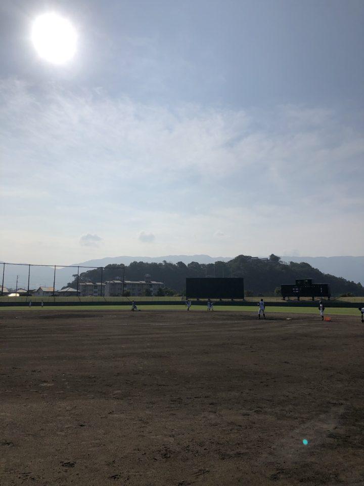 川之江球場で試合をする新居浜シニア